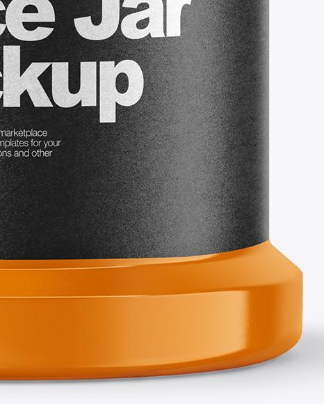 Glossy Spice Jar Mockup