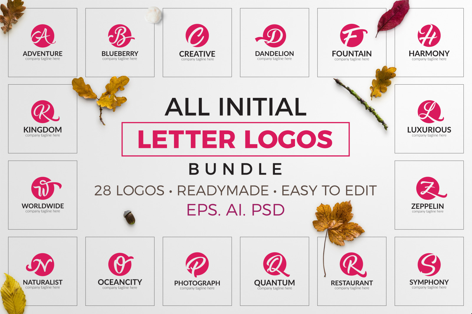 All Initial Letter Logos Bundle