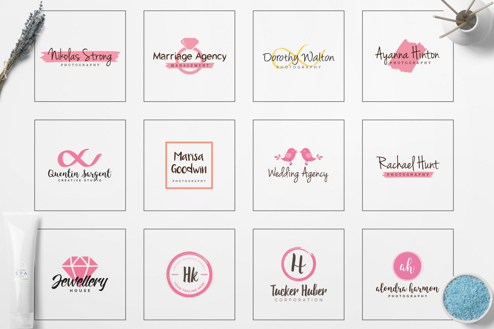 GIRLPOWER Feminine Branding Logo Pack