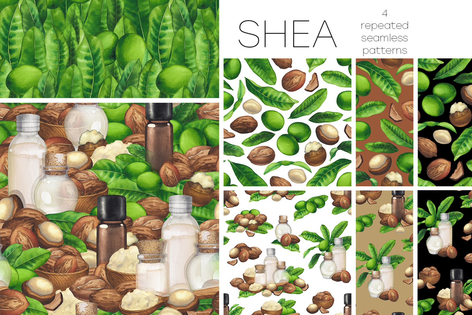 Watercolor shea collection