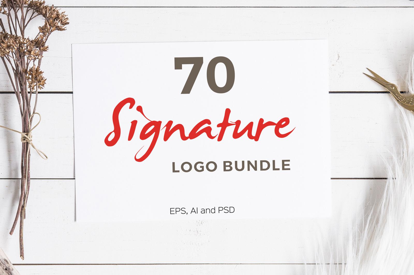 70 Signature Logo Bundle