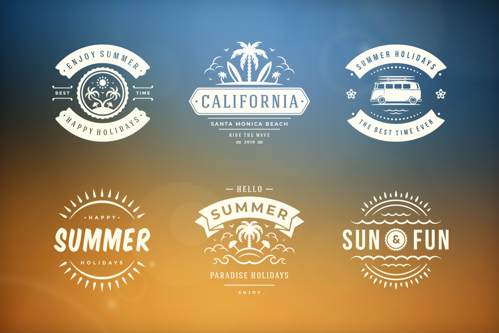 Summer Holidays Emblems & Badges
