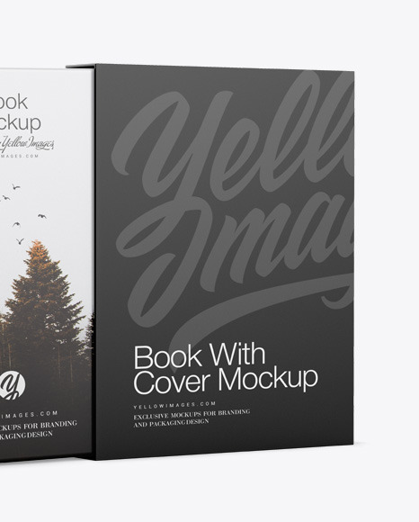 Hardcover Book With Cover Mockup