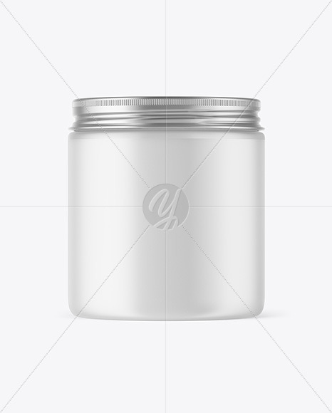 Frosted Plastic Jar Mockup