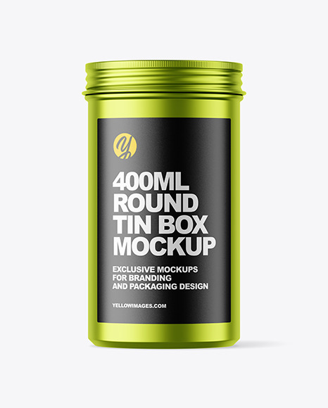 Download 100g Matte Metallic Cosmetic Tin Can Mockup PSD - Free PSD Mockup Templates