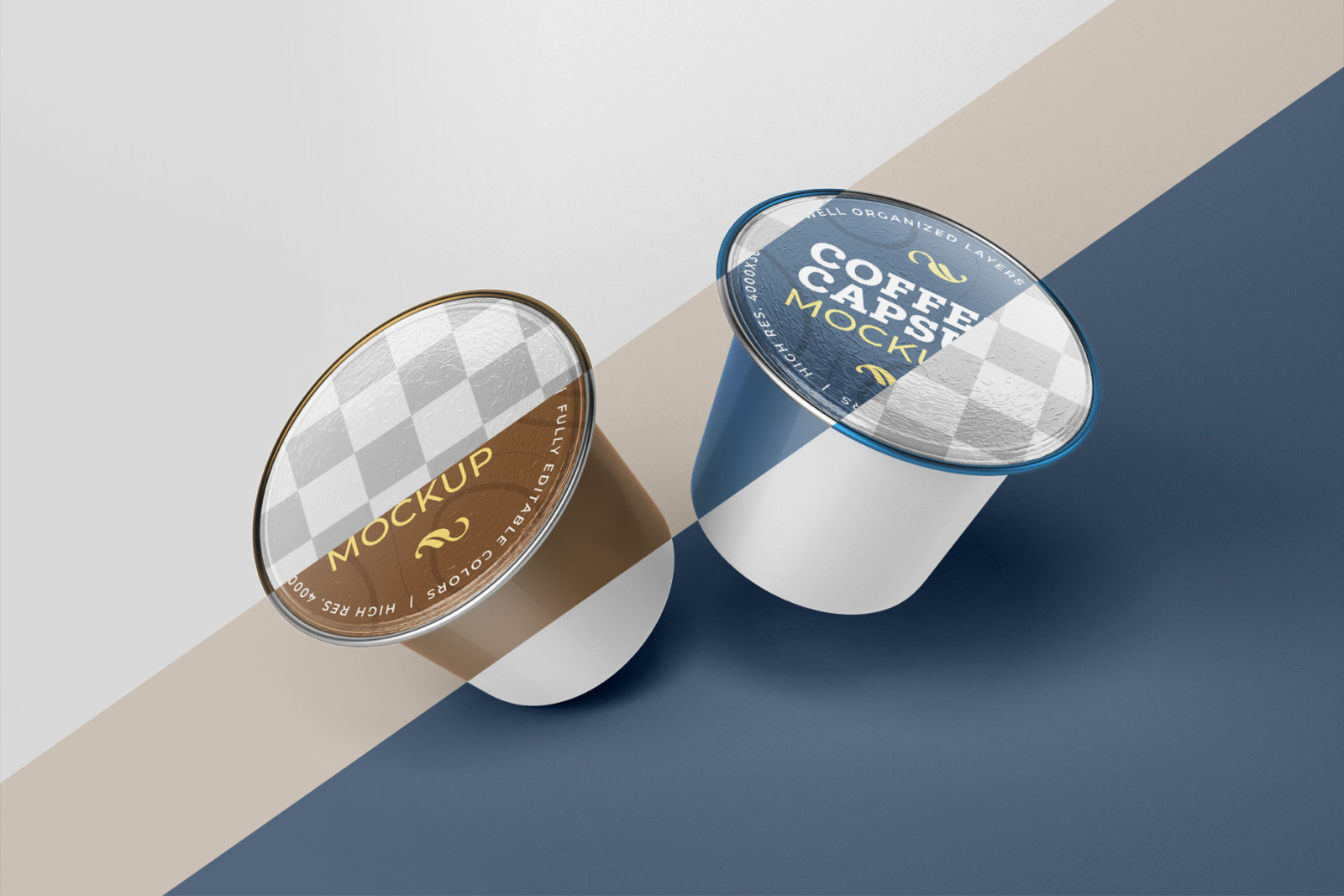 Coffee Capsule Mockup Set