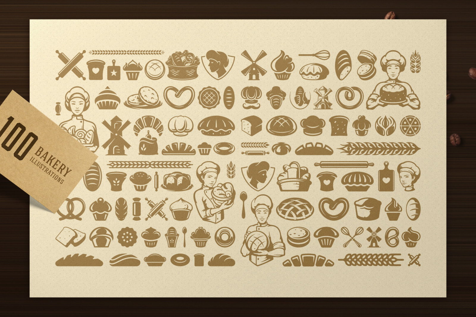 Bakery Logos and Badges