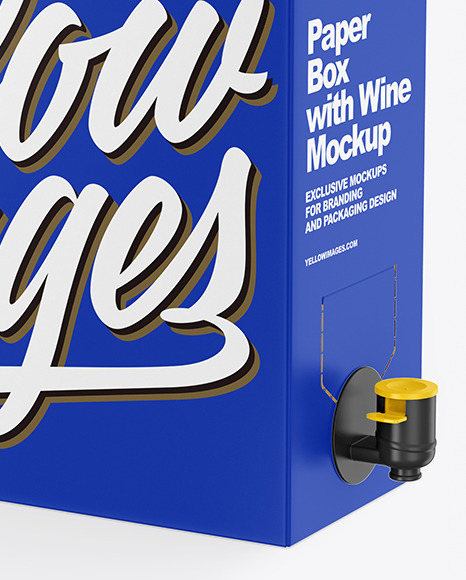 Matte Paper Box with Wine Mockup