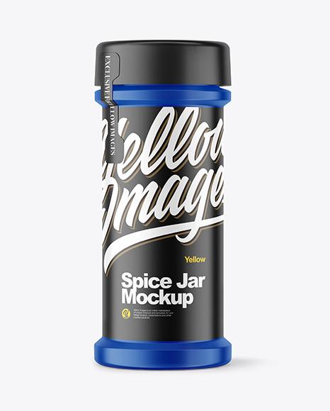 Matte Spice Jar Mockup