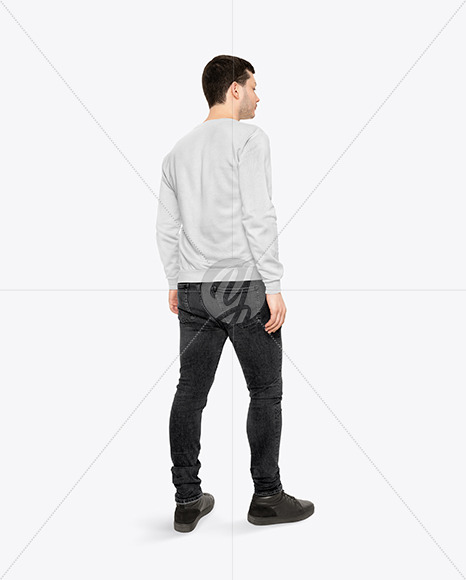 Download Mens Raglan Quarter Zip Pullover Mockup Yellowimages