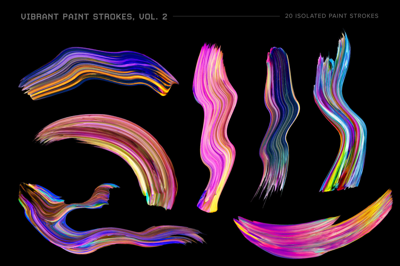 Vibrant Paint Strokes, Vol. 2