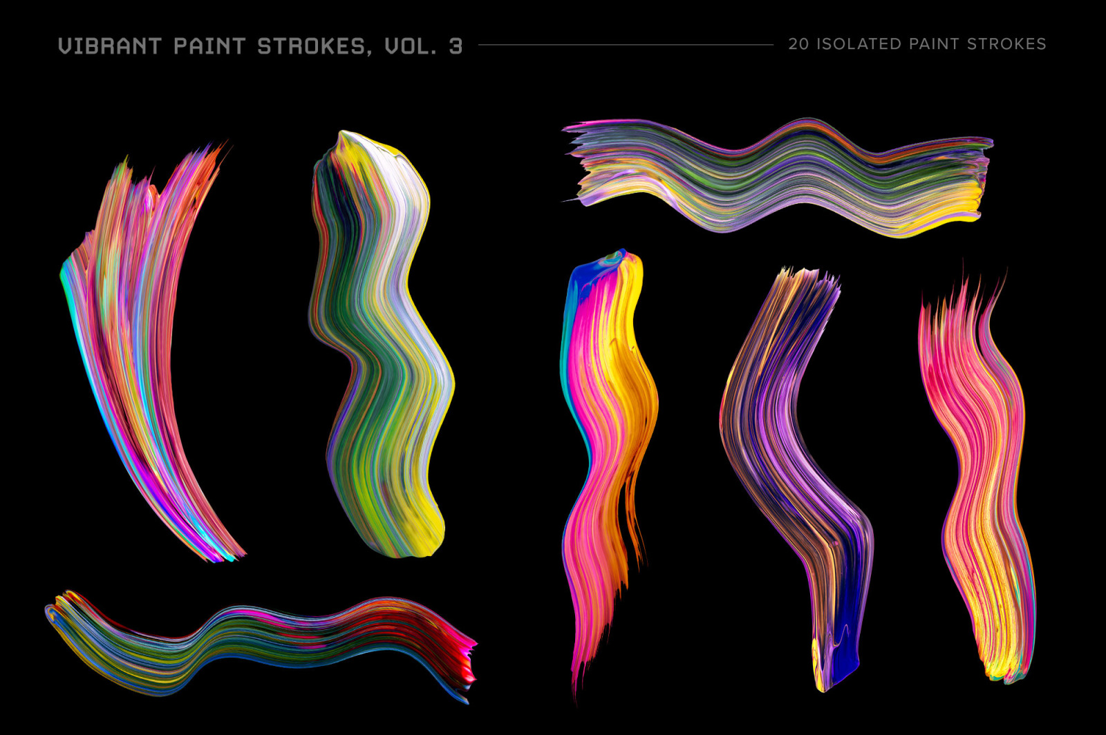 Vibrant Paint Strokes, Vol. 3