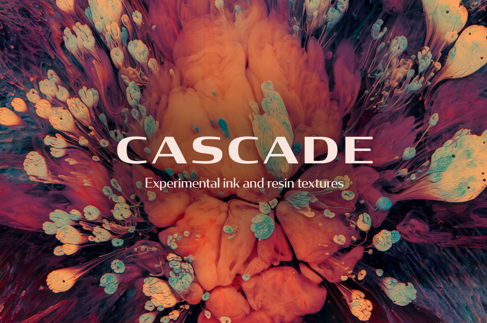 Cascade: Experimental Ink & Resin Textures
