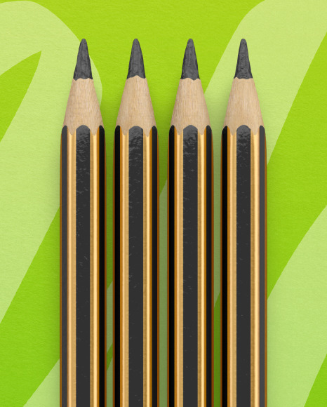 Blister Pack with 4 Pencils Mockup