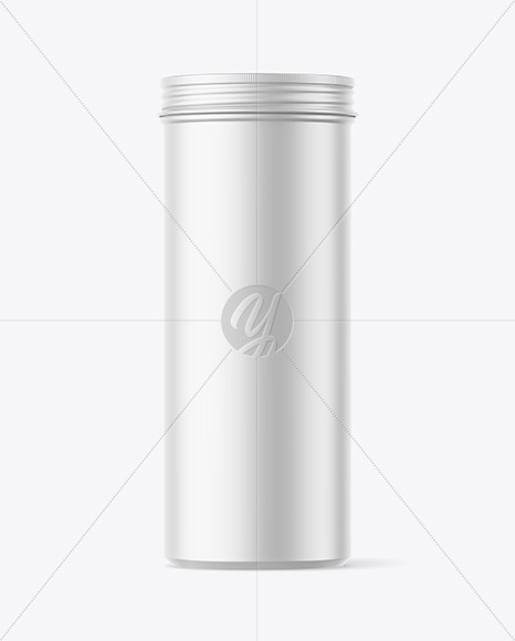 700ml Matte Round Tin Box Mockup