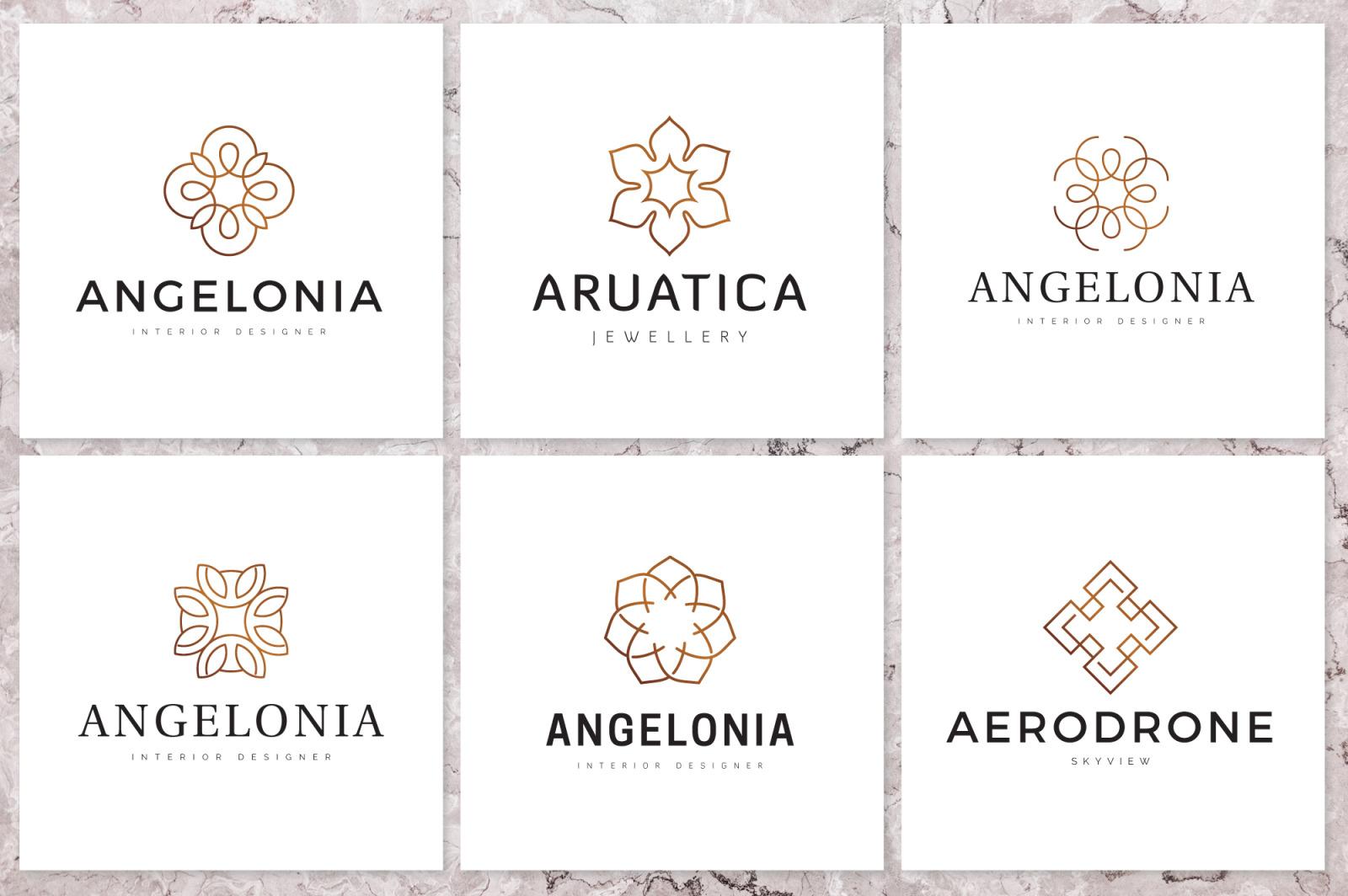 Geometric Linear Logo Pack