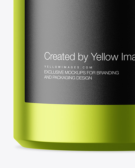 Download 700ml Matte Metallic Round Tin Box Mockup In Can Mockups On Yellow Images Object Mockups PSD Mockup Templates