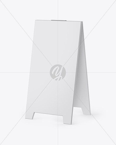 Pavement Sign Outdoor Advertising - Half Side View
