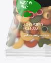 Matte Plastic Bag With Tricolor Pipe Rigate Pasta Mockup