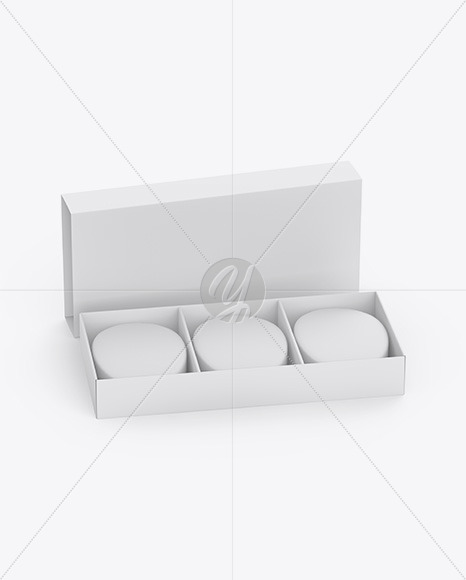 Paper Box With Soap Mockup