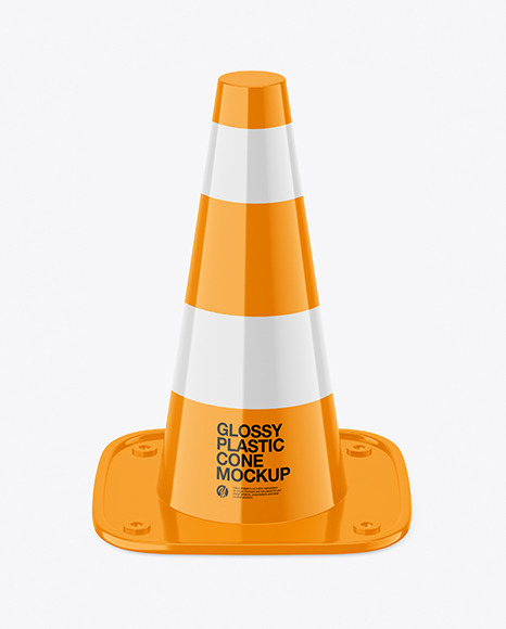 Glossy Plastic Cone Mockup