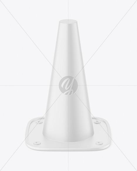 Matte Plastic Cone Mockup