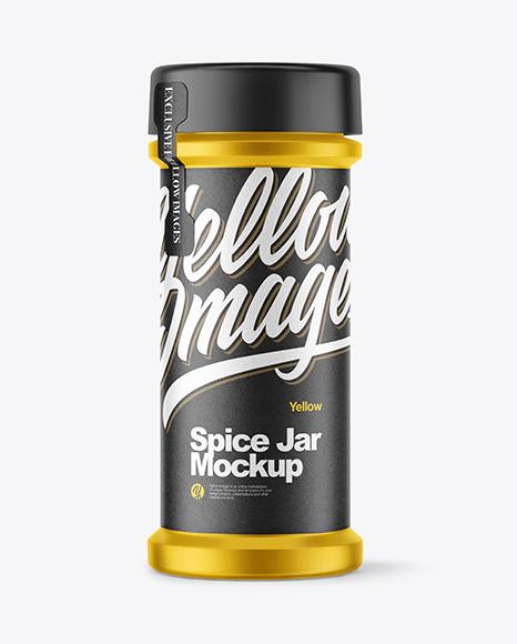 Metallic Spice Jar Mockup