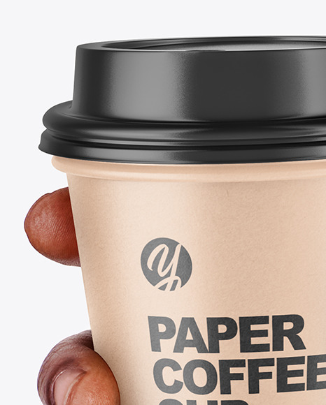 Hand Holding a Coffee Cup Mockup