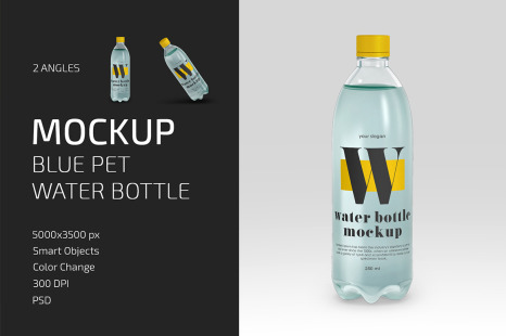 Download Open Blue Bottle With Dropper Mockup PSD - Free PSD Mockup Templates