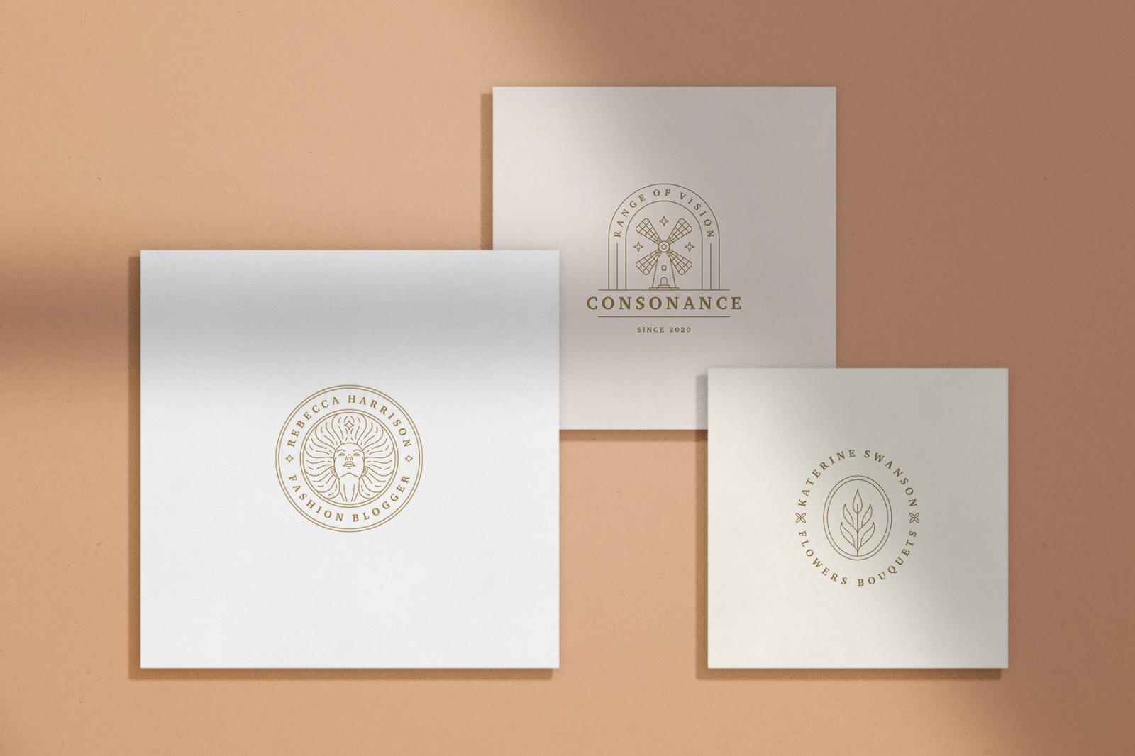 Elegant Line Logos Bundle