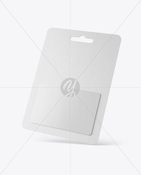 Gift Card in Paper Pack Mockup