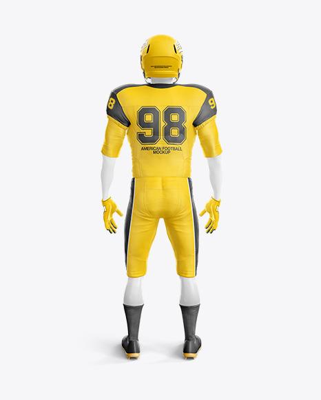 Download American Football Helmet Mockup Back View Yellowimages