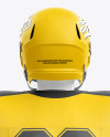 American Football Kit Mockup with Mannequin - Back View