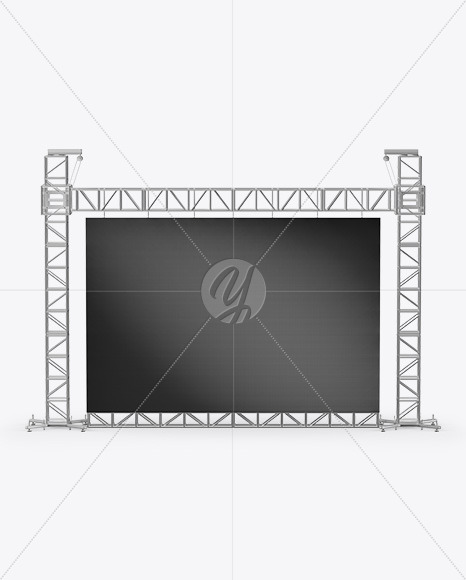 Stage Video Wall Mockup - Front View