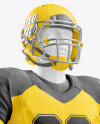 American Football Kit Mockup with Mannequin – Half Side View