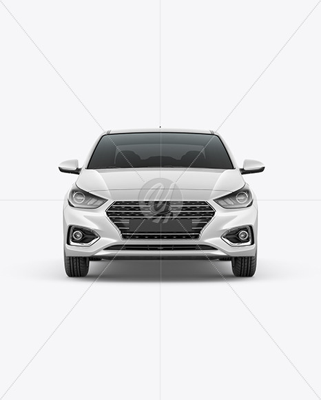 Compact Sedan Mockup - Front View - Yellowimages Mockups