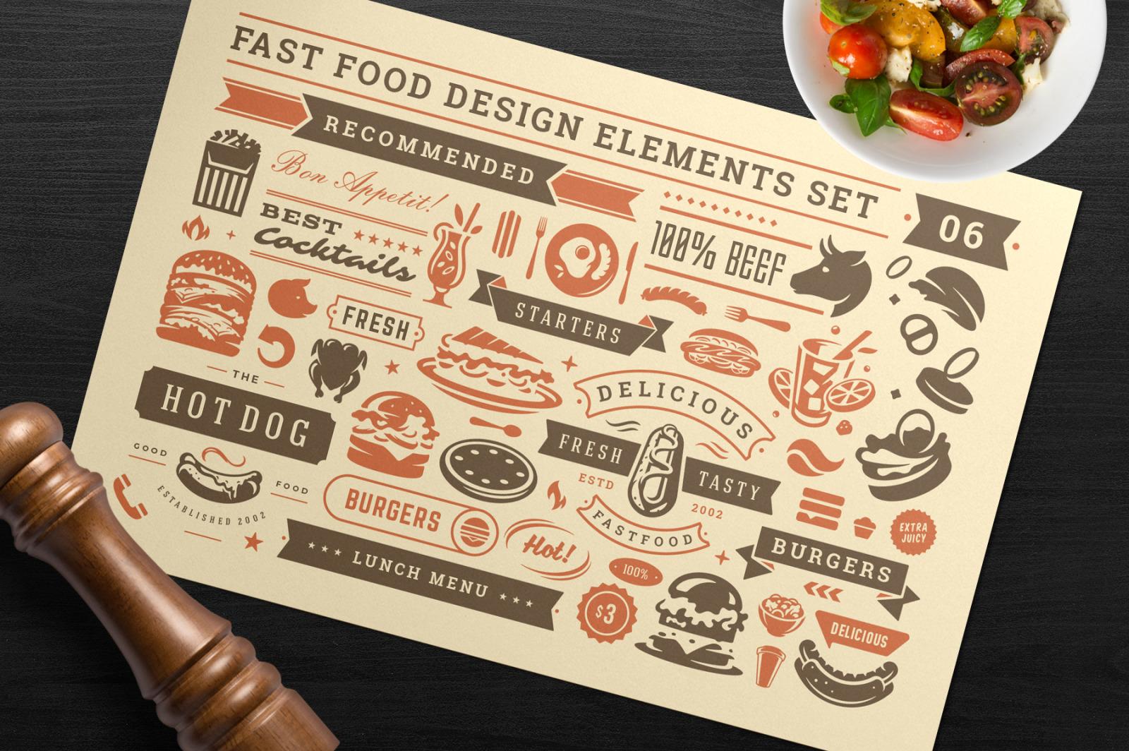 Fast Food Design Elements