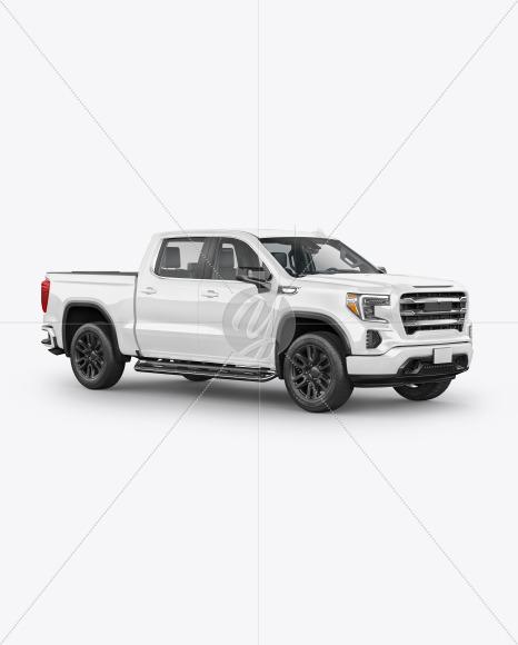 Pickup Truck Mockup - Half Side View - Yellowimages Mockups