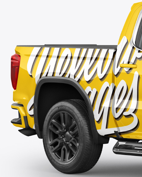 Pickup Truck Mockup - Half Side View