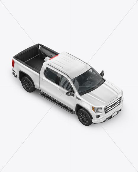 Pickup Truck Mockup - Half Side View (high angle shot) - Yellowimages Mockups