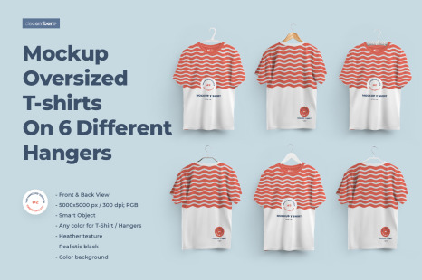 Download 2 Mockups Oversized T Shirts On 6 Different Hangers In Apparel Mockups On Yellow Images Creative Store PSD Mockup Templates