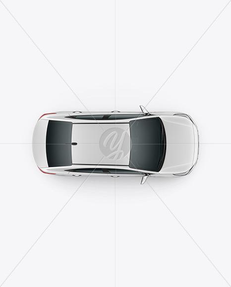 Compact Sedan Mockup - Top View - Yellowimages Mockups