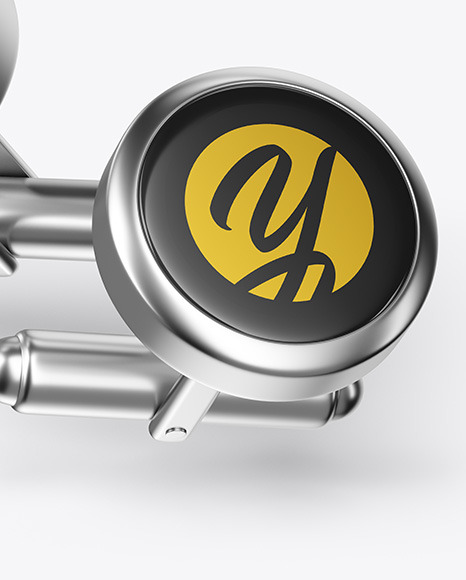 Two Cufflinks with Round Caps Mockup
