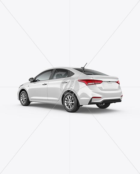 Compact Sedan Mockup - Back Half Side View - Yellowimages Mockups