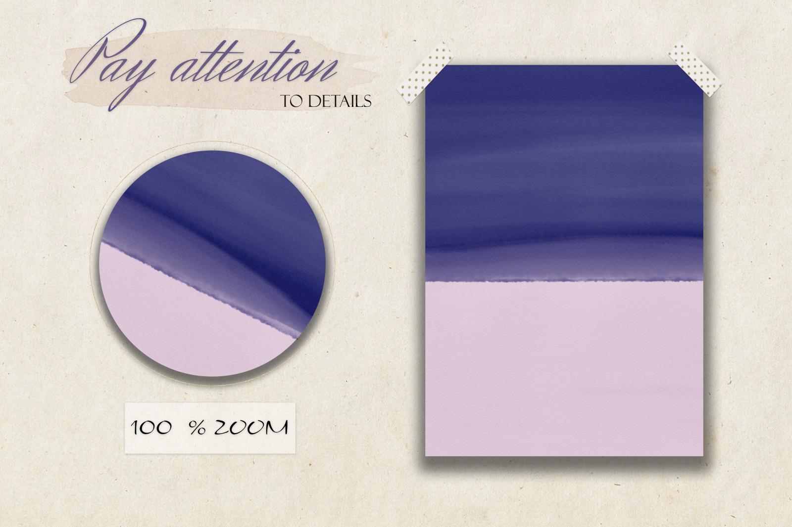 Indigo & Blush Watercolor Texture Set