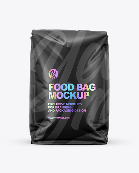 Download Matte Food Bag Mockup Front View In Bag Sack Mockups On Yellow Images Object Mockups Yellowimages Mockups