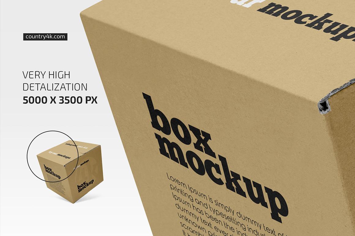 Square Paper Box Mockup Set