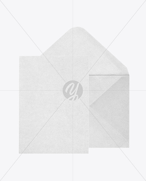 A6 Envelope and Card Mockup