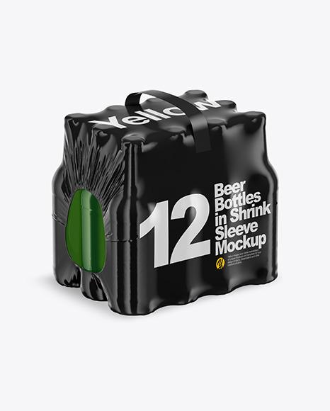 12 Bottles Pack Mockup