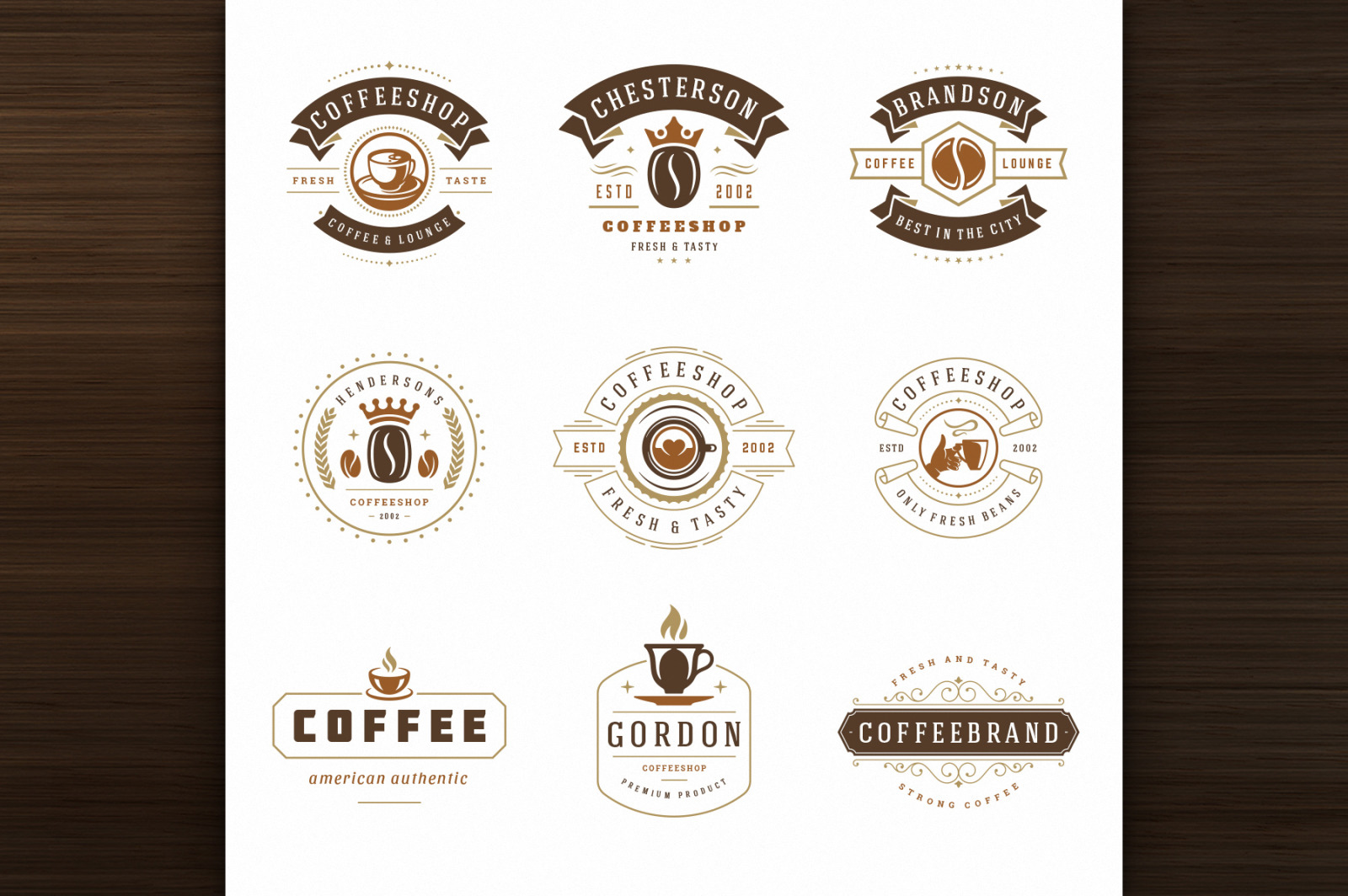 36 Coffee Logos and Badges